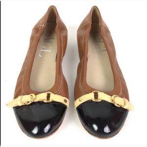 AGL Cap Toe Leather Ballet Flats Size 37.5 (7.5)